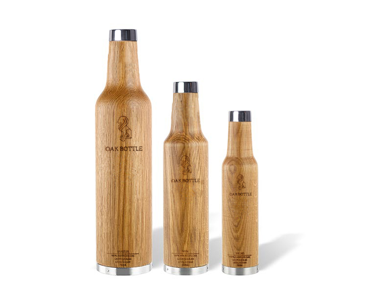 3 sizes whiskey bottle